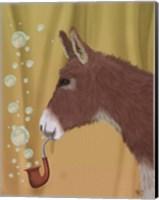 Donkey Bubble Pipe, Portrait Fine Art Print
