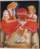 Coca-Cola Young Girls Fine Art Print