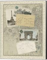 Vintage Map of Paris Giclee