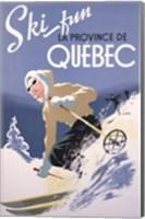 Ski Fun La Province de Quebec, 1948 Fine Art Print