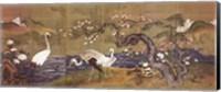 Cranes Along a River Fine Art Print