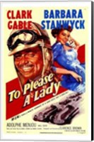 to Please a Lady (movie poster) Wall Poster