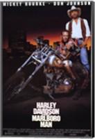 Harley Davidson and Marlboro Man Don Johnson Wall Poster