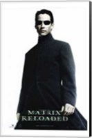 The Matrix Reloaded Keanu Reeves as Neo Wall Poster
