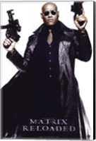The Matrix Reloaded Laurence Fishburne as Morpheus Wall Poster