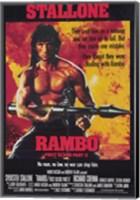 Rambo: First Blood  Part 2 Stallone Fine Art Print