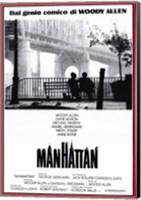 Manhattan - red border Wall Poster