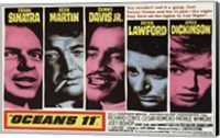 Oceans 11 Pink & Blue Wall Poster