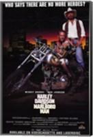 Harley Davidson and Marlboro Man Mickey Rourke Wall Poster