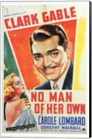 No Man of Her Own With Gable And Lombard Wall Poster