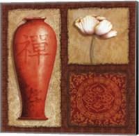Oriental Collage IV Fine Art Print