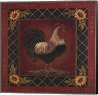 Sunflower Rooster I Fine Art Print