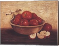 Apples In Wood Bowl Fine Art Print