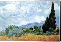 A Wheat Field with Cypresses, c.1889 Fine Art Print