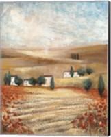 Hill Town Landscape I Fine Art Print