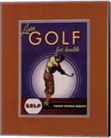 Golf For Health Fine Art Print