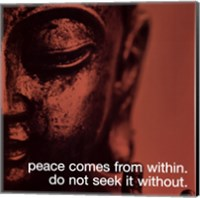 Buddha - iPhilosophy - Peace Wall Poster