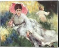 Woman with a Parasol Fine Art Print