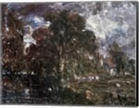John Constable - On the River Stour Fine Art Print