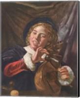 Boy with a Lute Fine Art Print