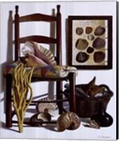 Beachcomber's Basket, 1989 Fine Art Print