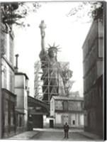 Statue of Liberty in Paris, 1886 Fine Art Print