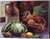 Vegetables and Stone Crocks Fine Art Print