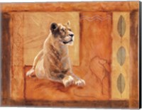 Lioness in Thought Fine Art Print