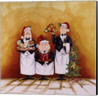 Christmas Waiters Fine Art Print