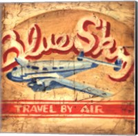 Blue Sky Travel Fine Art Print