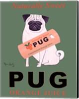 Pug Orange Juice Fine Art Print
