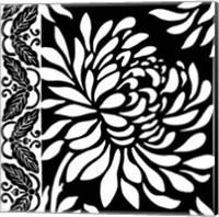 Graphic Chrysanthemums II Giclee