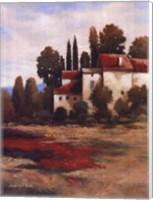 Red Roofs I Fine Art Print
