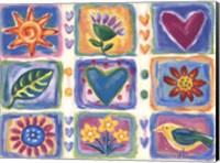 Hearts and Flowers III Fine Art Print