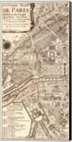 Plan de la Ville de Paris, 1715 (L) Fine Art Print