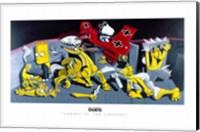 Snoopy vs. The Simpsons Fine Art Print