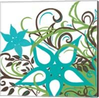 Floral Twist I Fine Art Print