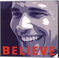 Barack Obama:  Believe Fine Art Print