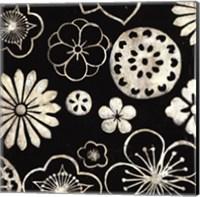 Silver Floral Cascade III Fine Art Print
