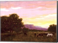 Grazing Below The Mesa Fine Art Print