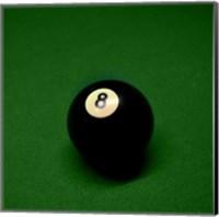 8 Ball on Green Fine Art Print