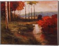 Autumn River in Tuscany Fine Art Print