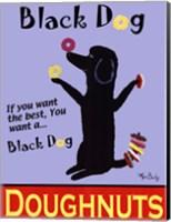 Black Dog Doughnuts Fine Art Print