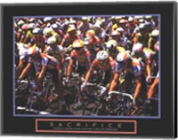 Sacrifice - Starting Line Bicycle Race Fine Art Print