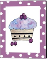 Blueberry Cupcake Fine Art Print