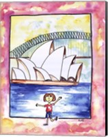 Girl In Sydney Fine Art Print