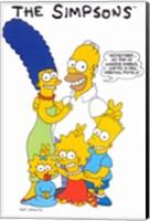 The Simpsons Family Fine Art Print