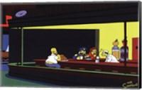 The Simpsons Nighthawks Spoof Fine Art Print