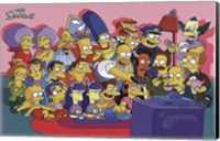 The Simpsons Cast on Couch Fine Art Print
