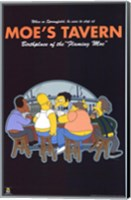 The Simpsons Moe's Tavern Fine Art Print